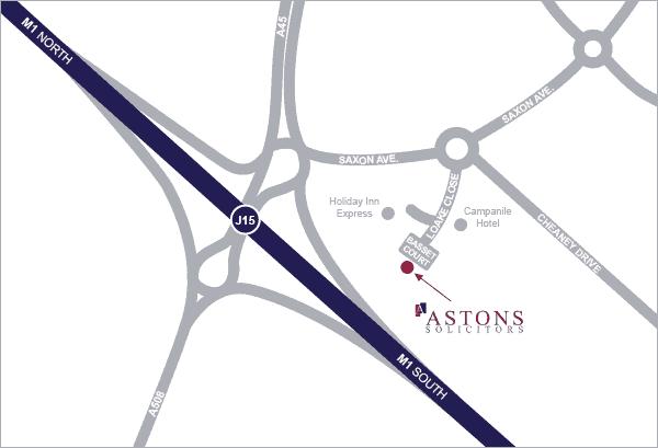 Astons' Map