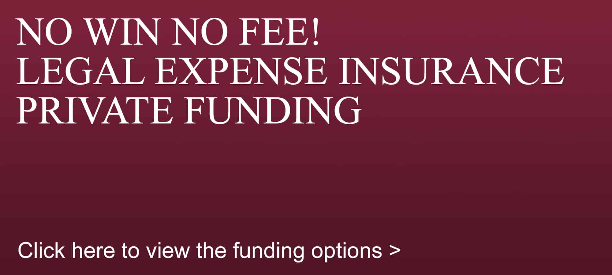 Astons No win no fee legal expense insurance private funding